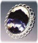 Sterling Silver adn Blue John Brooch
